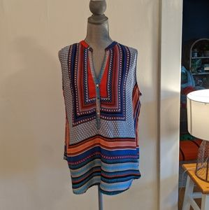 Colorful Brixon Ivy Sleeveless Blouse (XL)